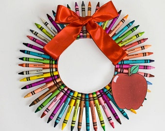 Crayon Wreath - medium
