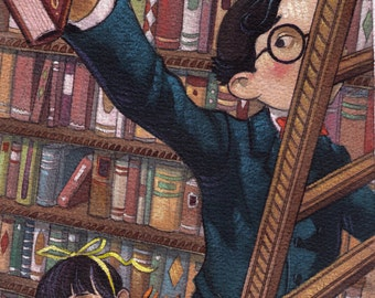 Baudelaires in Library