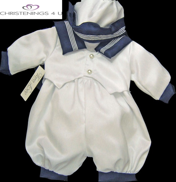 boys sailor christening outift