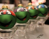Individual Ninja Turtle Hand-painted Glass Christmas Ornament (Single ornament) - EchoBase