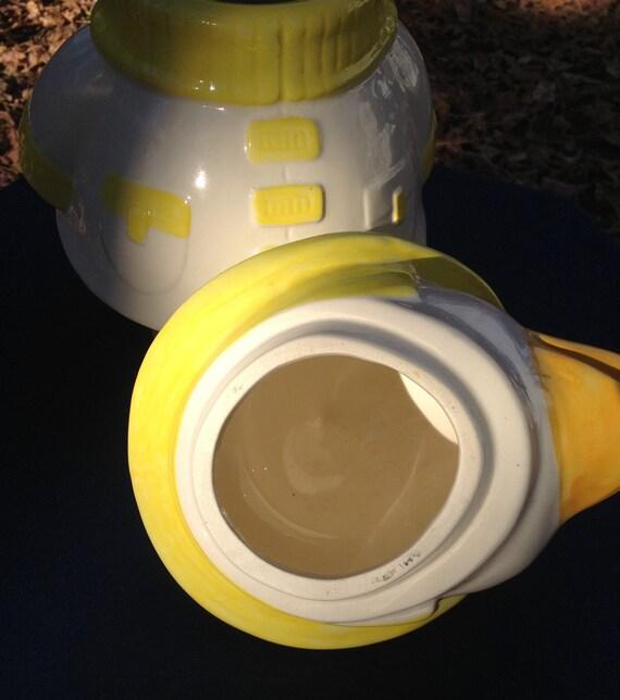 Metlox Vintage Puddles The Duck Ceramic Cookie Jar