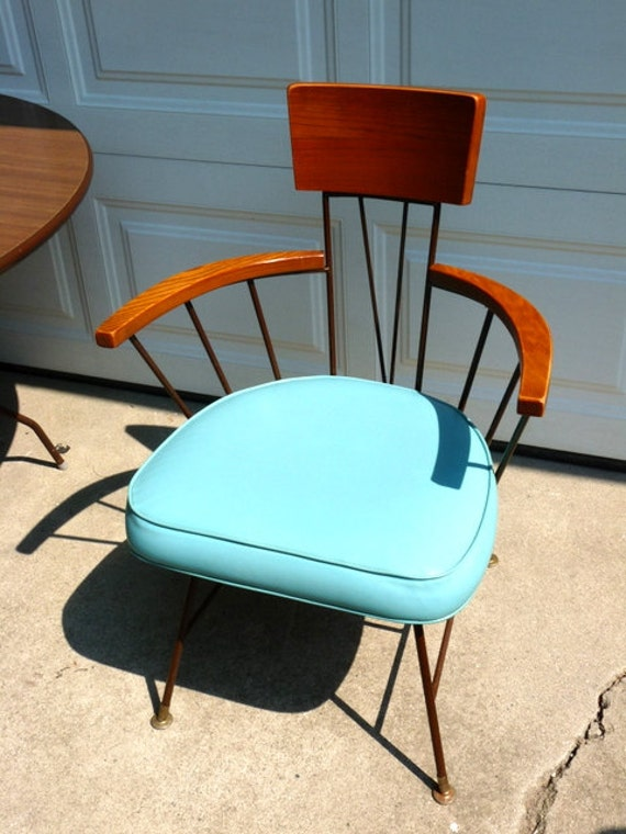 mid century modern dining table and chairs