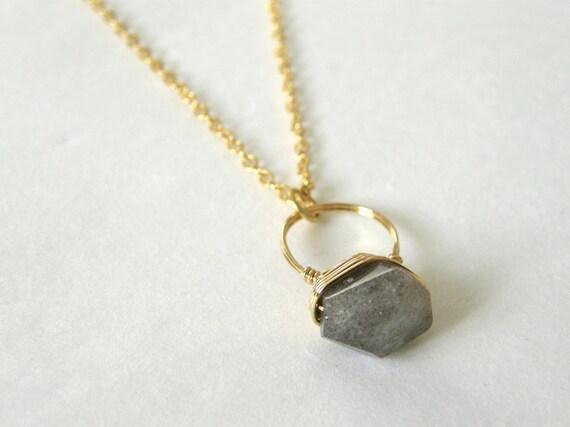 grey labradorite gemstone ring pendant necklace gemstone