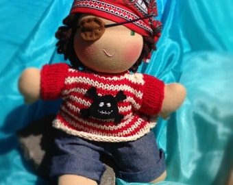 10 inch Pirate waldorf style doll
