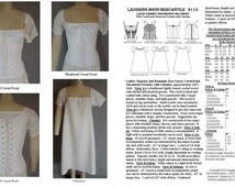 LM115 - Ladies Regency and Romantic Era Corded Corset with Theatrical Version Corset and Chemise Pattern Sewing Pattern by Laughing Moon