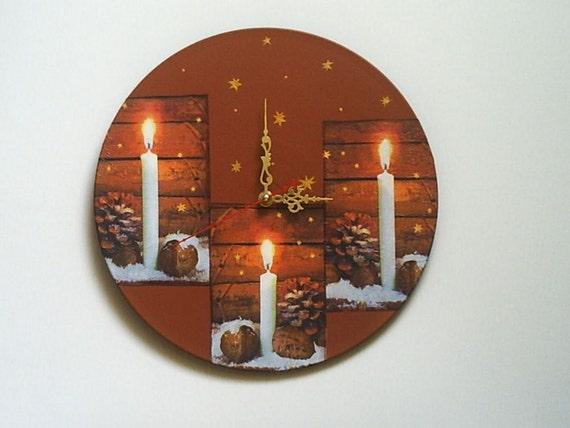 Horloge murale unique horloges bougies art grand mur horloges for Murale unique