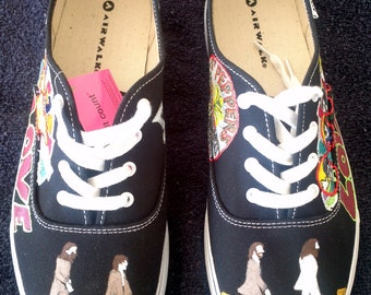 The Beatles Shoes Hand Painted