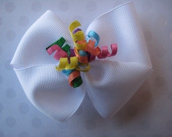 Rainbow Korker Hair Bow
