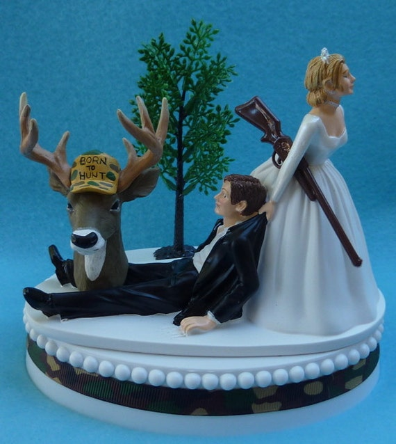 deer hunter wedding cake topper wedding cake topper deer gun themed camo w 13442