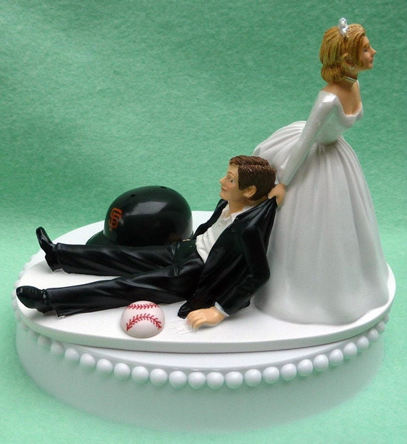 wedding cake topper san francisco giants sf baseball themed w