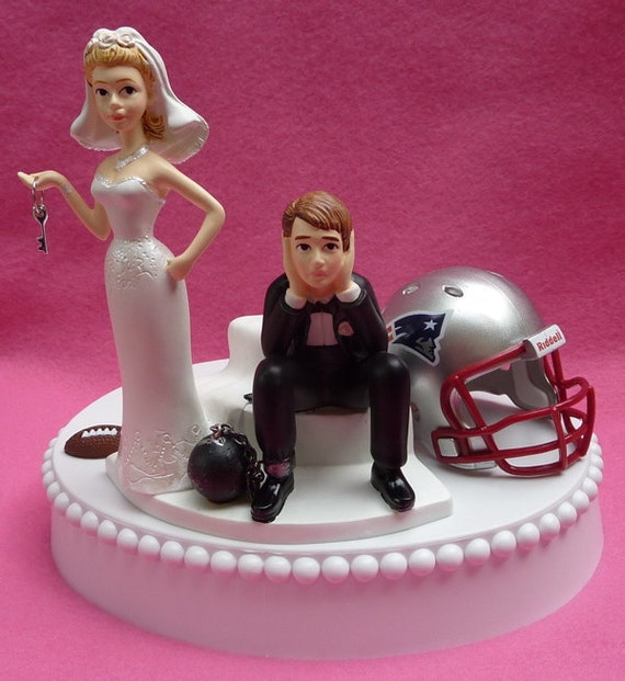 Wedding Cake Topper New England Patriots Pats Football Themed