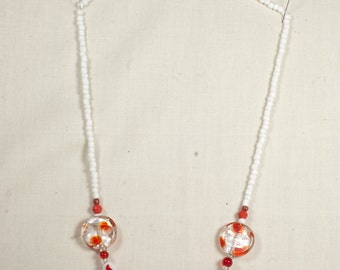 Fire Flower Beaded Necklace