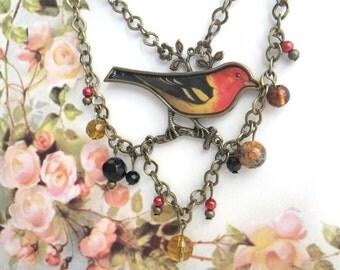 Robin - Necklace Vintage Style