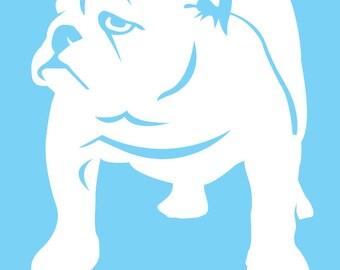 Bulldog window decal-PERSONALIZED