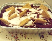 Milk Chocolate or Dark Chocolate S'mores  Swirl Fudge Quarter Pound (1/4 lb) 4 oz Creamy Gourmet Fudge