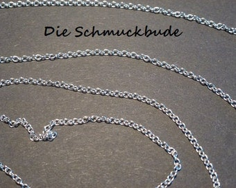 D-02531 - 2m Brass chain silver color 2x1,5mm nickelfree