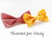 RESERVED for Wendy: 2 bow ties