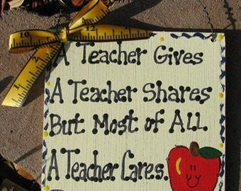 Teacher GIfts Handmade & Painted