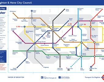 """16x9"""" - Brighton Underground on Canvas"""