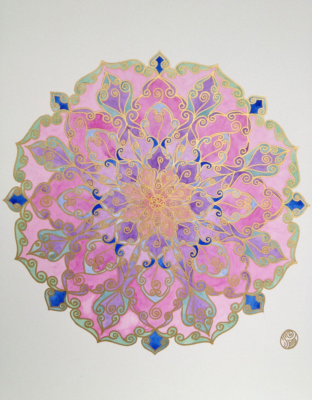 pink lotus mandala. Black Bedroom Furniture Sets. Home Design Ideas