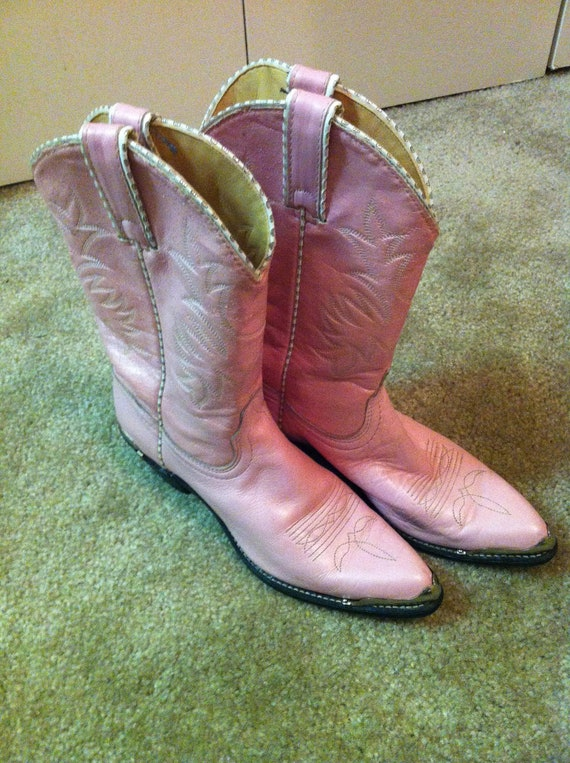Vintage Rodeo Drive Pink Cowboy Boots By Foxtailsandlace