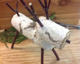 Homemade Birch Reindeer