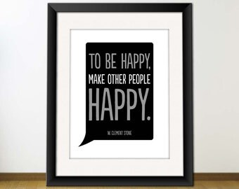 Make People Happy - Typography Art Print, Printable Poster, Download And Print JPEG Image