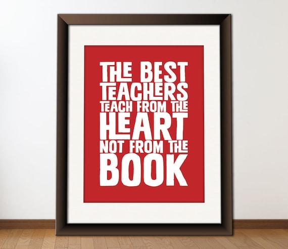 Download Favorite Qoute: INSTANT Download The Best Teacher Quote Digital Printable