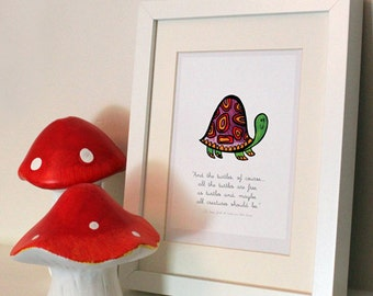Dr Suess Quote - Yertle Turtle Nursery Wall Art