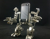 Metal cell phone holder Assembling model Decoration Boys gift  Ideas new Strange gift Ideas gifts Personalized gifts Robot