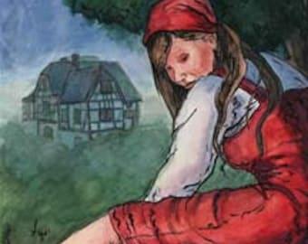 "Fairy Tale Illustration... mother holle..""Frau Holle"""