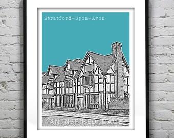 Stratford-Upon-Avon England Poster Stratford Warwickshire United Kingdom Art Print