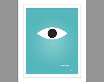 Digital Download Monsters Inc Movie Poster Art Nursery Art Print, Monsters Inc. Nursery Art Boys Room - 8x10 or 11x14