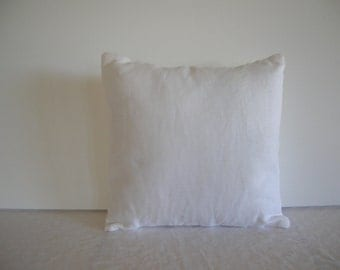 White Linen 12x12 Pillow Cover