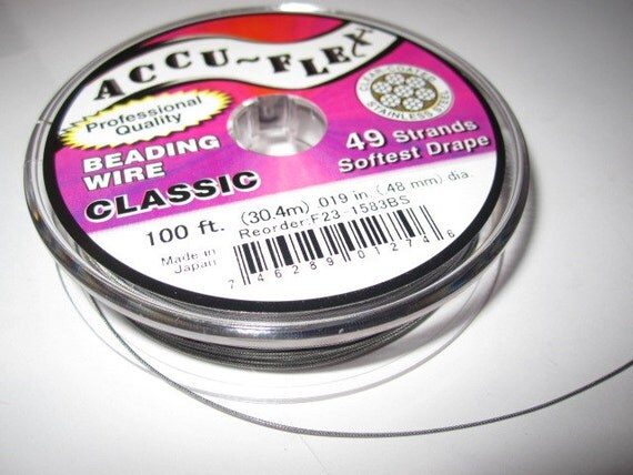 accu flex clear coated beading wire by the foot by beadyourown