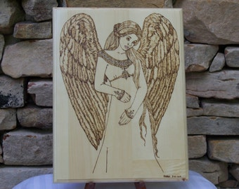 Angel Woodburning Pyrography