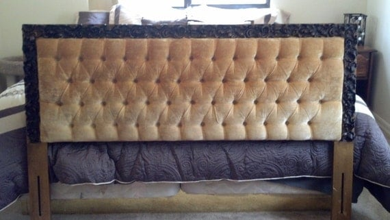 how to clean velour headboard