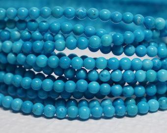 Sleeping Beauty Turquoise Beads 2.3 mm Natural Gemstone Beads Jewelry Craft