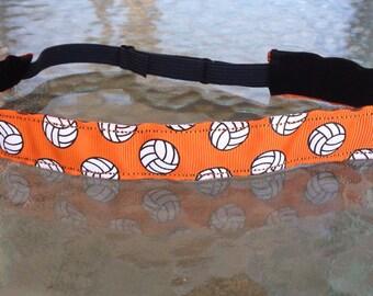 Orange  Volleyball non slip headband adjustable size