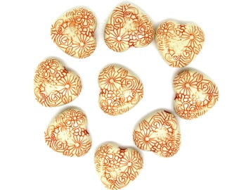 12 pc Colorful Acrylic Beads, Heart, 15x16mm wide, 6.5mm thick. Ships from Los Angeles, CA Immediately.