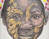 Beautiful African body art - Portrait