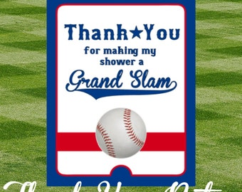 Baseball Baby Shower Thank You Notes