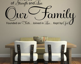Wall decals quotes, A circle of strength and love, wall decal, Vinyl wall  sticker