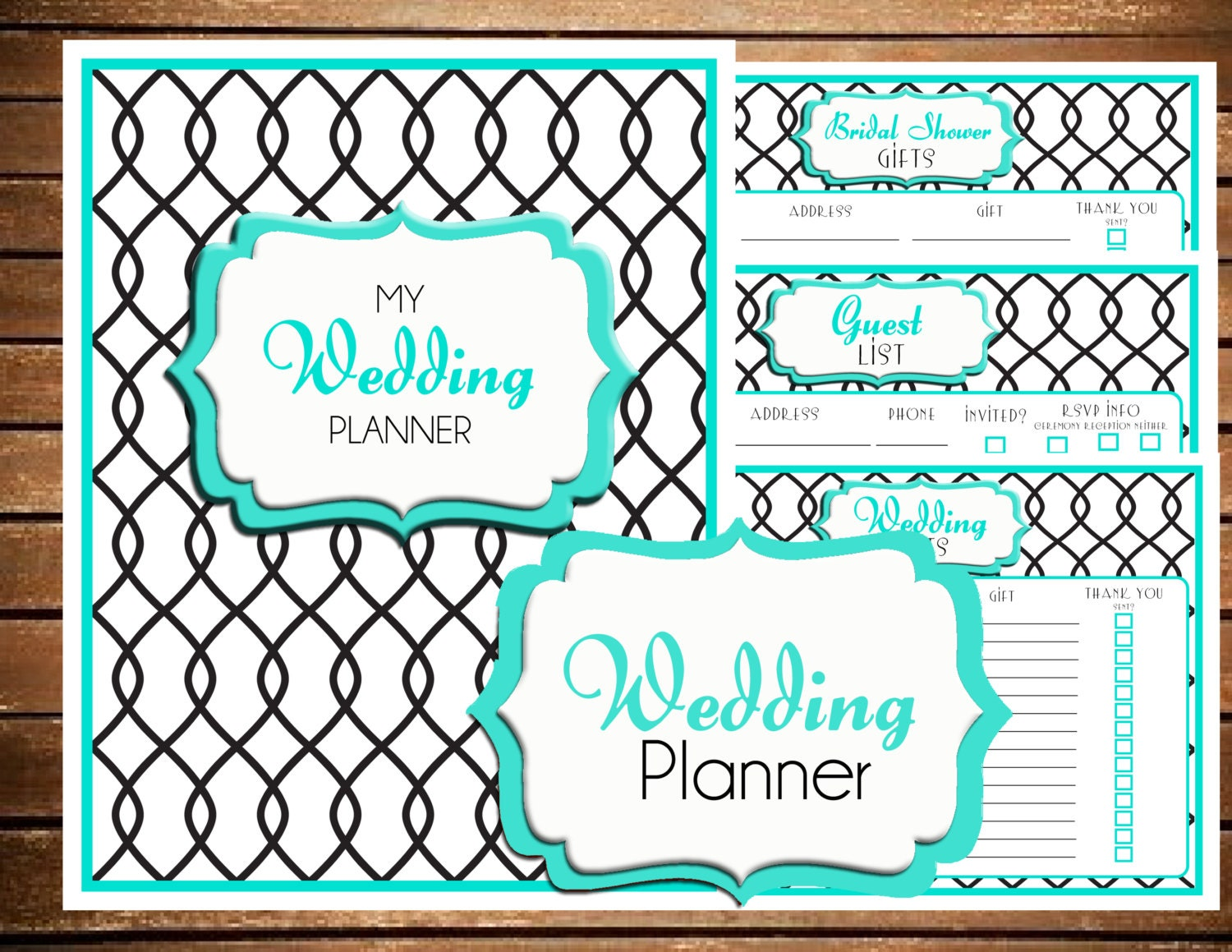 Luscious image inside free printable wedding planner templates