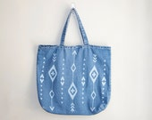 Ikat Denim Tote Bag - Bodomint