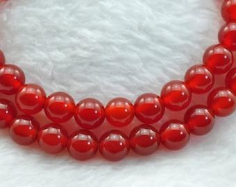 Cornelian smooth Round  beads 6mm,62 pcs