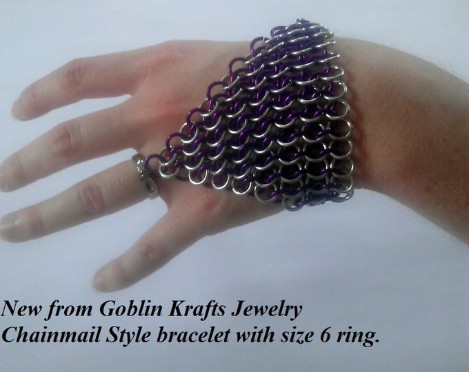 Chainmail Bracelet Belly Dance Style Made to order Choose You Color Choose Your Pattern Choose Your Ring Size