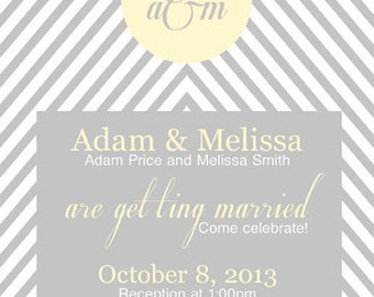Diagonal Wedding Invitation