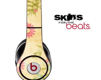 Vintage Sunflower Skin for the Beats by Dre Studio, Solo, MIXR, Pro or Wireless Version Headphones