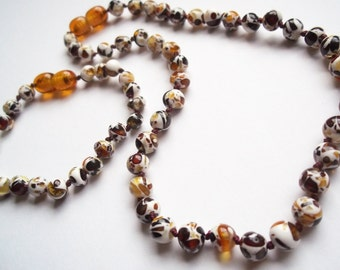 Baltic Amber  Teething Necklace  and Bracelet for Baby, Children  Multicolored.